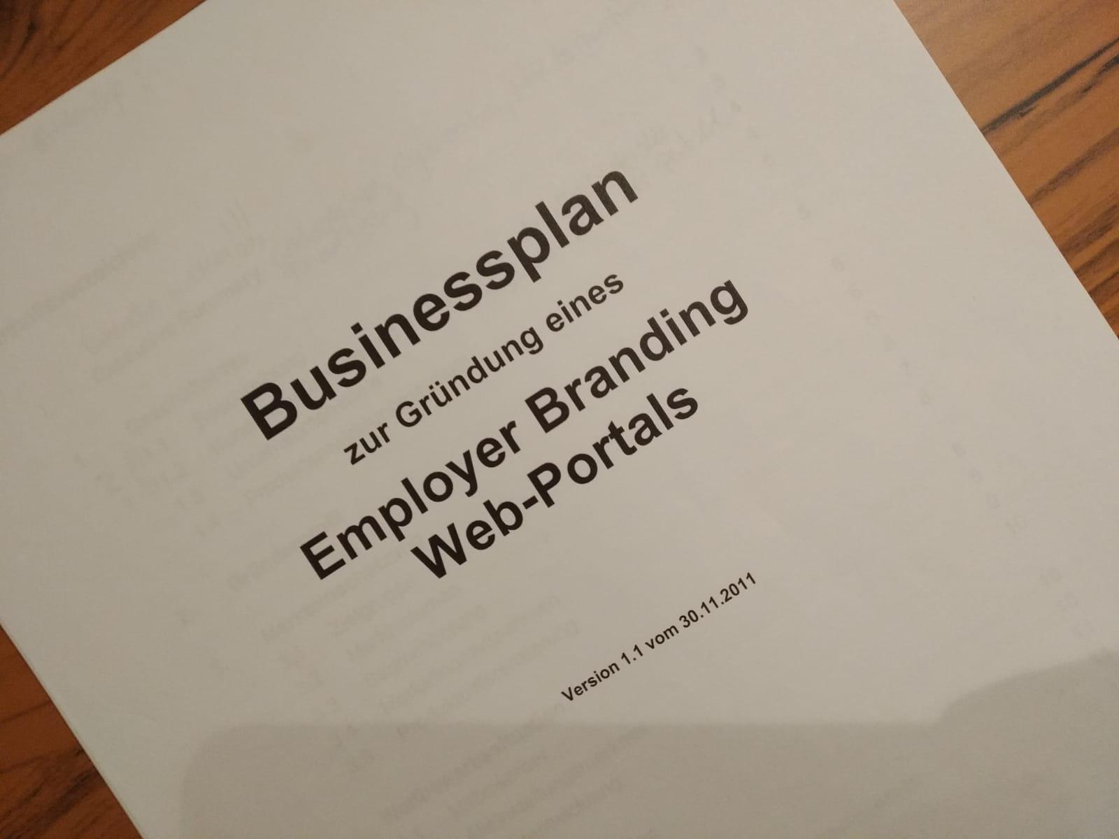 Beispiel Fur Eine Businessplan Vorlage Fur